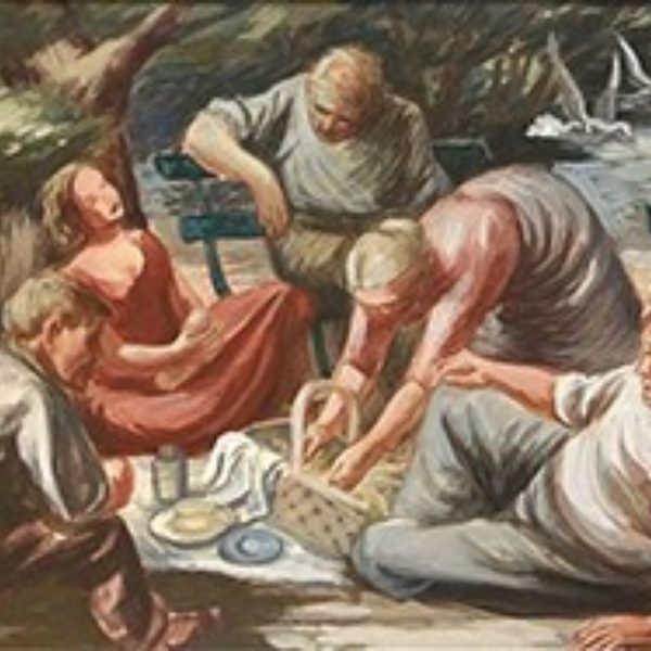 Edgar Britton's Untitled (Mural study, picnic in the park)