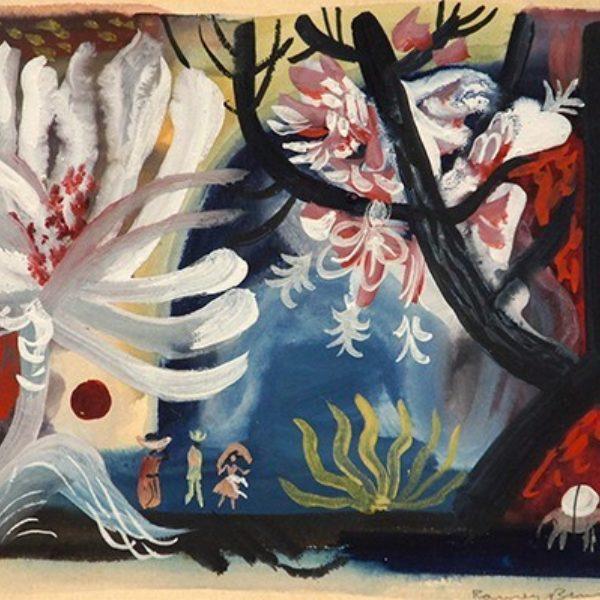 Rainey Bennett's Untitled (Abstract landscape)