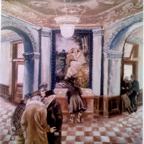 Aaron Bohrod's The Courthouse Lobby