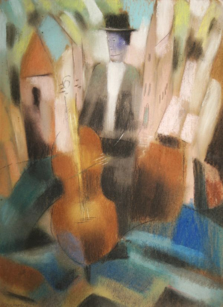 Untitled (Man with cello)