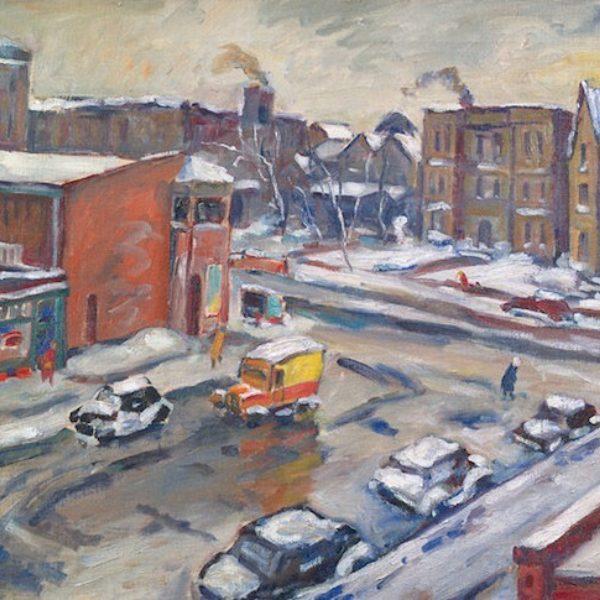 Tunis Ponsen's Winter Streets, Chicago