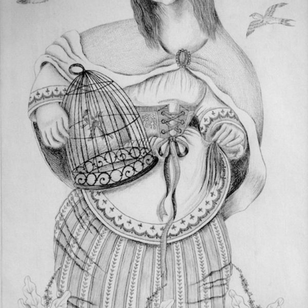 Fritzi Brod's Untitled (Woman with birds)