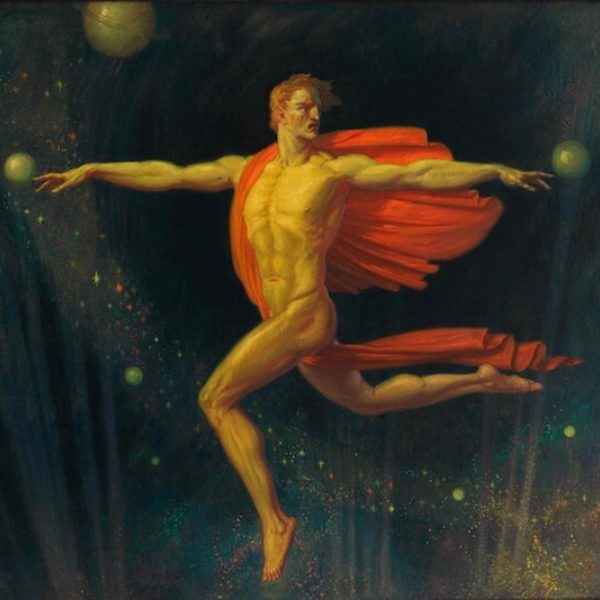 Louis Grell's Man and Planets