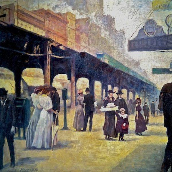 Alson Skinner Clark's Wells Street Bridge and Northwestern Station