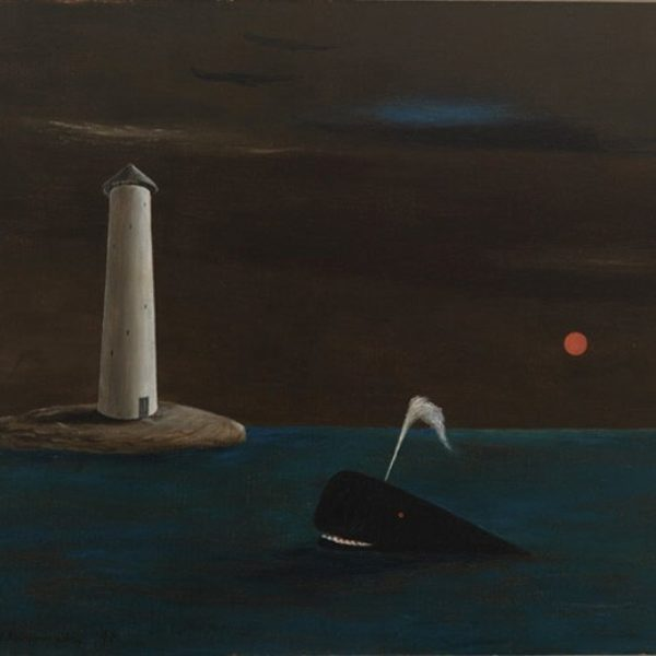 Gertrude Abercrombie's Untitled (Lighthouse, Whale and Black Sea)