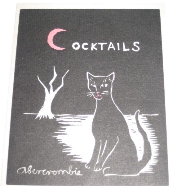 Gertrude Abercrombie's Cocktails (invitation)