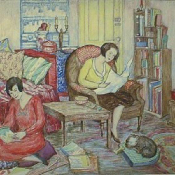 Ethel Spears's Interior (Women reading)