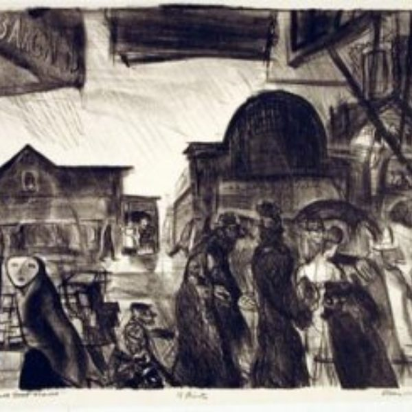Francis Chapin's Shoppers--Maxwell Street Market