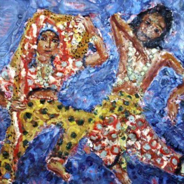 Rifka Angel's Uday Shankar and Simkie, Famed Hindu Dancers