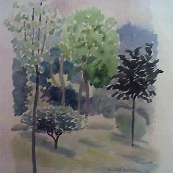 Gustav Dalstrom's Untitled (Spring trees)