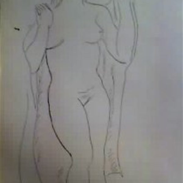 Fred Biesel's Untitled (standing nude)