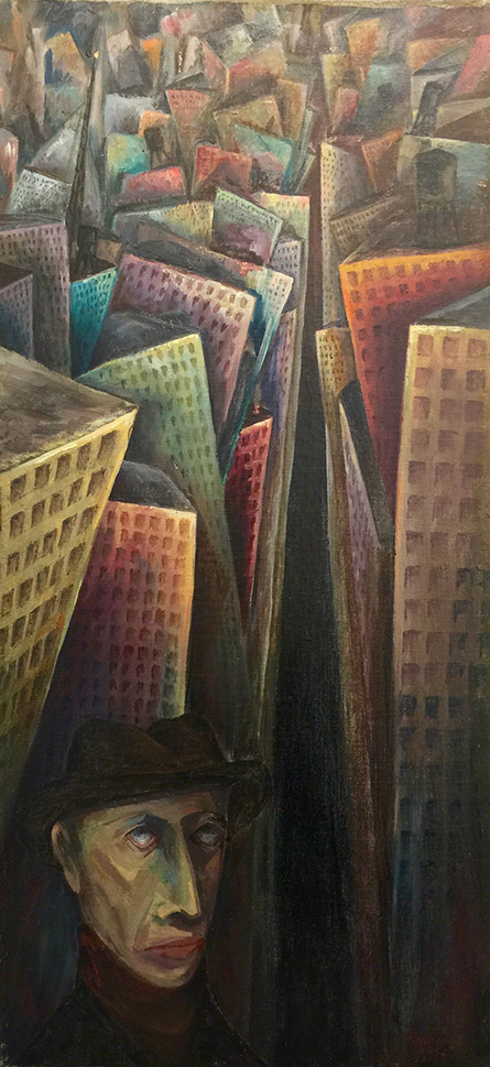 Self Portrait With Chicago Skyline