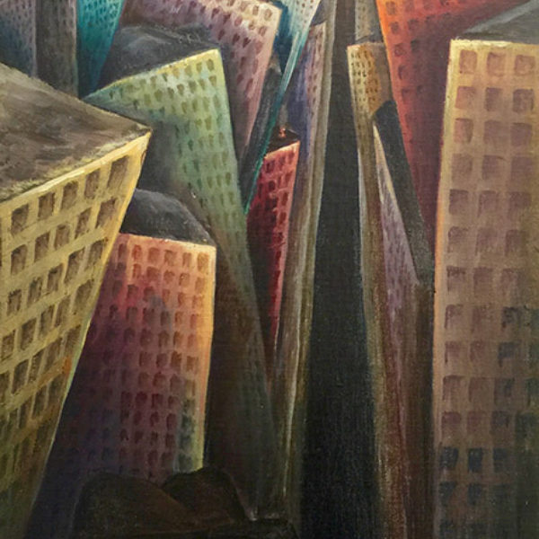 Fred Rappaport's Self Portrait With Chicago Skyline