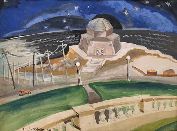 Untitled (Building on the Beach at Night)