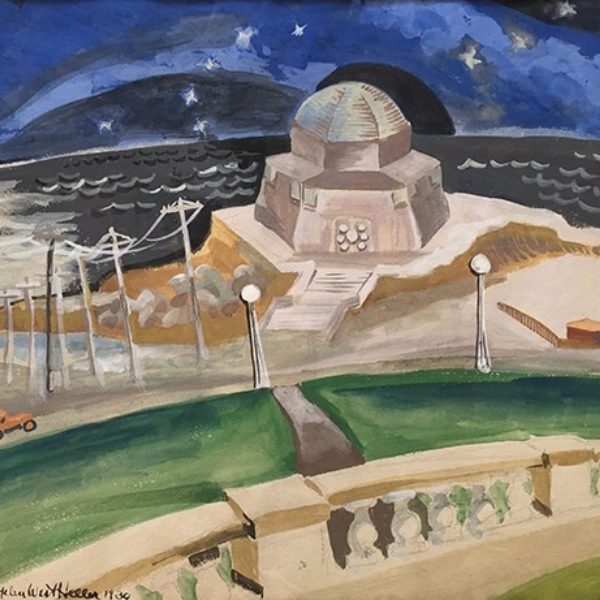 Helen West Heller's Untitled (Building on the Beach at Night)