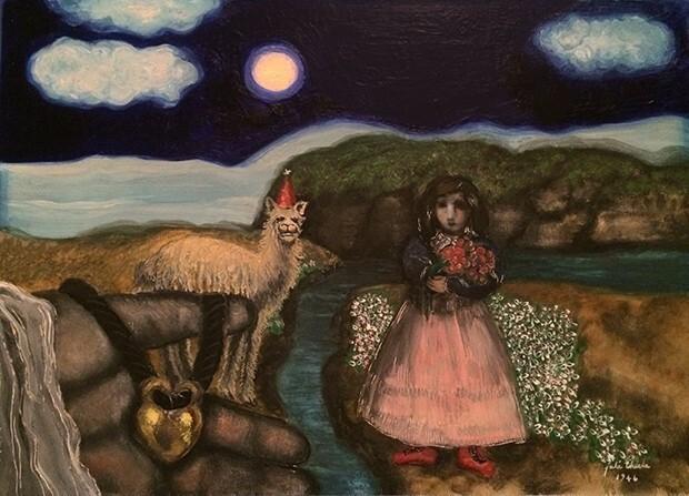 Girl and Llama
