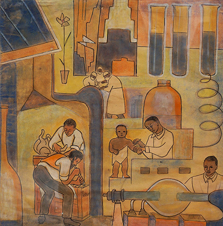 Mural Study - The Negro's Contribution to Medicine and Veterinary Science