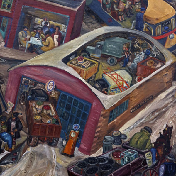 Adrian Troy's Untitled (Street scene with cutaway interiors)
