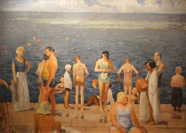 Lakefront Bathers