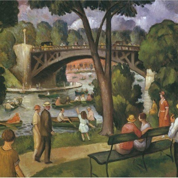 Gustaf Dalstrom's The Bridges, South Pond (Lincoln Park)