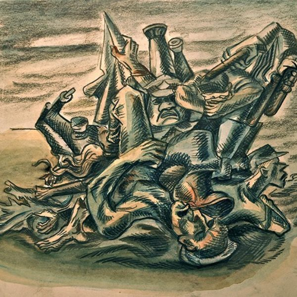 Robert White's Untitled (Study for Memorial Day Massacre)