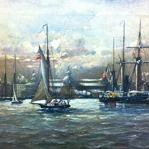 N. C. Paulsen's Untitled (Ships on Lake Michigan)